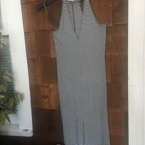 L.A Hearts vertical line maxi dress